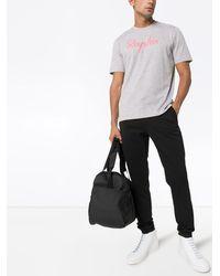 Rapha T-Shirt mit Logo-Stickerei - Grau