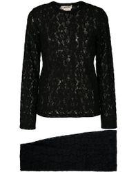 Comme des Garçons Lace Two-piece Suit - Black