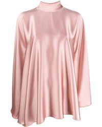 Styland High-neck Draped Dress - Pink