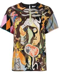 Dior Pre-owned Abstract Pattern Blouse - Brown