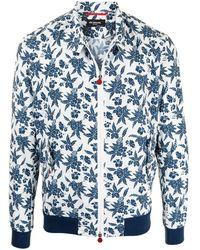 Kiton フローラル ジャケット - ホワイト