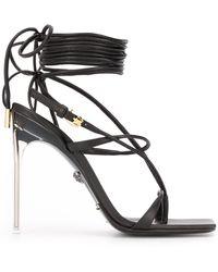 Versace Босоножки С Завязками - Черный