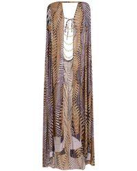 Amir Slama Printed Cape Beach Dress - Multicolour