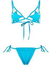 Sian Swimwear トライアングル ビキニ - ブルー