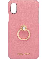 Miu Miu Crystal-embellished Iphone X/xs Case - Pink