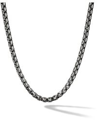 David Yurman Box Chain Medium Necklace - Metallic