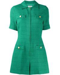 Sandro Jacky Short Sleeve Playsuit - Green