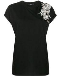 Balmain ビーズディテール Tシャツ - ブラック