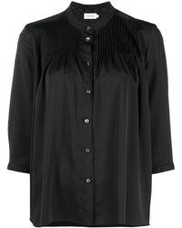 Calvin Klein Блузка Со Складками - Черный