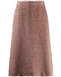 Rochas Aラインスカート - ブラウン