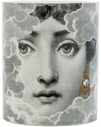 Fornasetti Face Print Candle - Gray