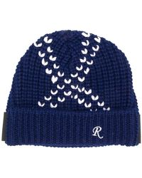Raf Simons - Contrast Stitch Beanie Hat - Lyst