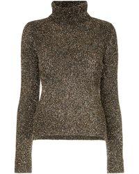 OSMAN Glitter Roll Neck Sweater - Metallic