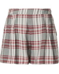 Markus Lupfer Plaid High-waisted Shorts - Multicolor