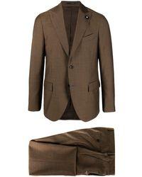 Lardini シングルスーツ - ブラウン