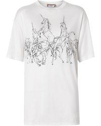 Burberry プリント Tシャツ - マルチカラー