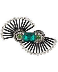 Rochas - Crystal Embellished Brooch - Lyst