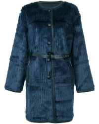 Urbancode - Textured Belted Coat - Lyst