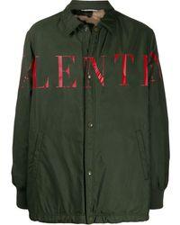 Valentino - ロゴ シャツジャケット - Lyst