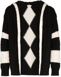 Saint Laurent Baja zip-up knit cardigan - Schwarz