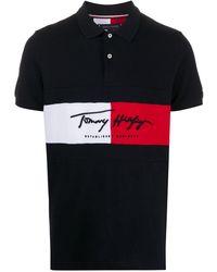 Tommy Hilfiger カラーブロック ポロシャツ - ブルー