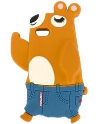 DSquared² Coque d'iPhone à design d'ours - Multicolore