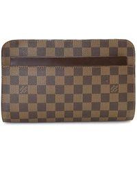 Louis Vuitton Клатч Pochette Saint Louis Pre-owned - Коричневый