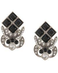 Dolce & Gabbana ラインストーン ピアス - ブラック