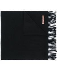 Acne Studios ナロー スカーフ - ブラック