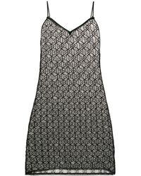 Gucci GG Pattern Lingerie Dress - Black