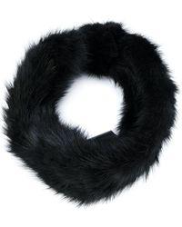 Yves Salomon Headband Hat - Black