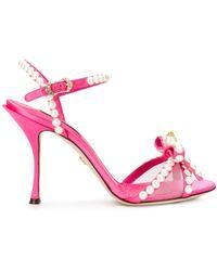 Dolce & Gabbana パールトリム サンダル - ピンク