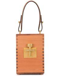 Oscar de la Renta Mini Alibi Box Bag - Brown