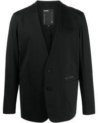 Attachment Vネック シングルジャケット - ブラック