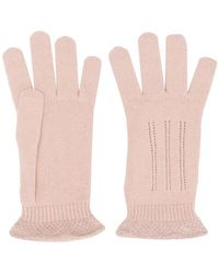 Cruciani Knitted Gloves - Pink