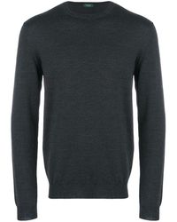 Zanone Knitted Sweater - Gray