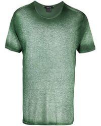 Avant Toi T-shirt à effet délavé - Vert