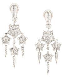 Stephen Webster - 18kt White Gold And Diamond Chandelier Earrings - Lyst