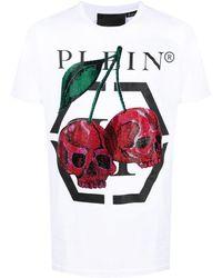 Philipp Plein チェリープリント Tシャツ - ホワイト