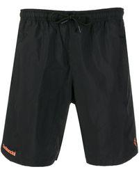 Marcelo Burlon Confidential Logo Swimming Shorts - Black