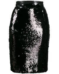 Dondup スパンコール ミニスカート - ブラック