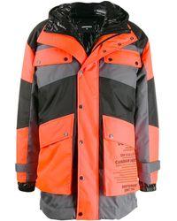 DSquared² Padded Parka Coat - Orange