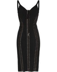 Dolce & Gabbana - Облегающее Платье Cady Со Шнуровкой - Lyst