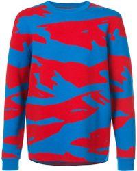 Aztech Mountain Snow Leopard セーター - ブルー
