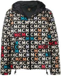 MCM ロゴ ダウンジャケット - ブラック