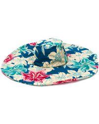 Etro Floral Print Sun Hat - Blue