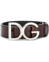 Dolce & Gabbana Logo Buckle Belt - Brown