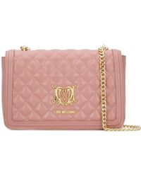 Love Moschino - Quilted Faux Leather Shoulder Bag - Lyst