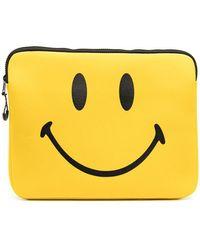 Chinatown Market Smiley Laptop Case - Yellow