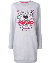 KENZO Tiger Sweatshirt Dress - Grey